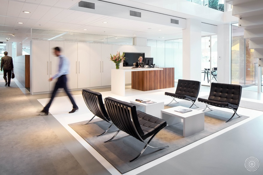 the interior design for the new hq offers open workstations